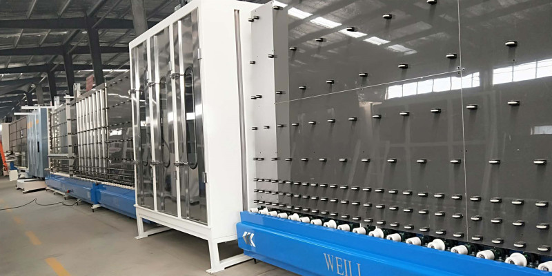 LBW1800PB Vertical Insulating Glass Production Line For Double Glazing Glass